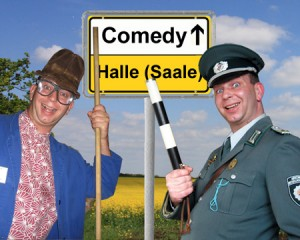 Komiker-in-Halle-Saale