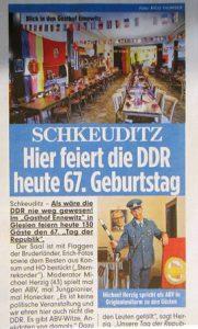 DDR Dinnershow zum 67. Tag der Republik