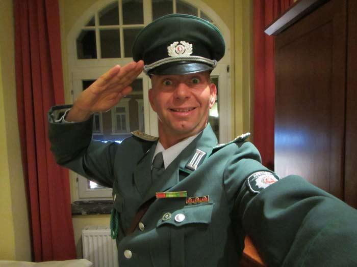 DDR Komiker und Alleinunterhalter Volkspolizist ABV Bulli in Mittweida Sachsen